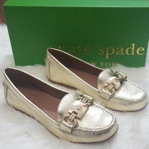 NWT Kate Spade Women's Gold Carson Moccasin Sz 5M